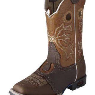 ESTAMPIDA Kid´s Boots, Honey/Brown – Crazy/Wax