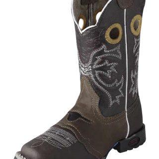 ESTAMPIDA Kid´s Boots, Brown/Honey – Crazy/Wax