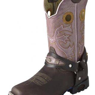 ESTAMPIDA Kid´s Boots, Brown/Pink – Crazy/Wax