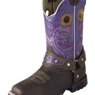 ESTAMPIDA Kid´s Boots, Brown/Violet – Crazy