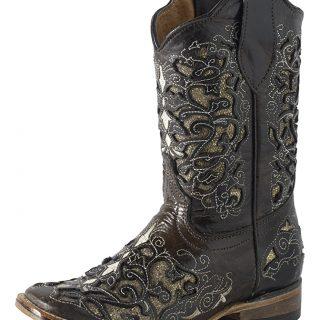 ESTAMPIDA Kid´s Boots, Brown/Golden – Crater