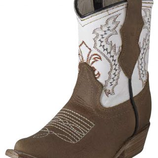 ESTAMPIDA Baby´s Boots, Honey/White – Crazy/Natura