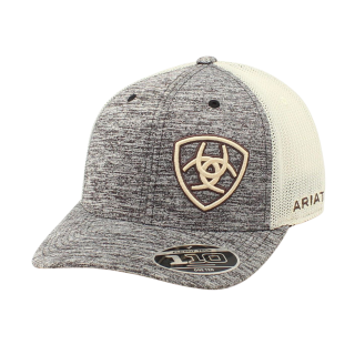 ARIAT -  Baseball Cap Grey with Offset Logo.  FREE SHIPPING