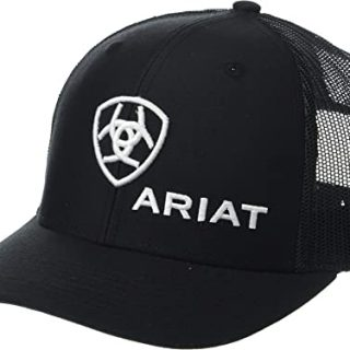 ARIAT - Black Logo Snapback Cap.  FREE SHIPPING