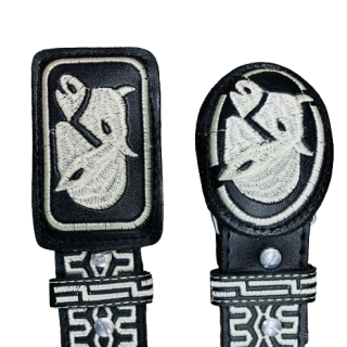 ESTAMPIDA – Belt for adult, machine embroidered - Bull