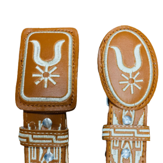 ESTAMPIDA – Belt for adult, machine embroidered – Spur