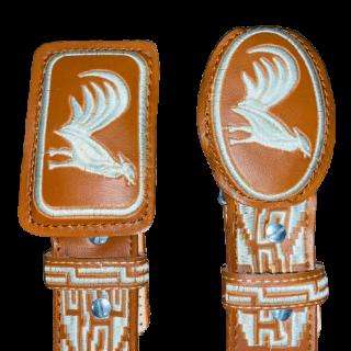 ESTAMPIDA - Belt for adult, machine embroidered -  Rooster