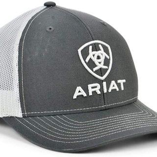 ARIAT-Classic Trucker Grey Cap.  FREE SHIPPING