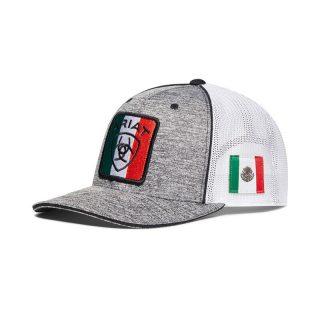 ARIAT-Mexico Flag Gray Cap.  FREE SHIPPING