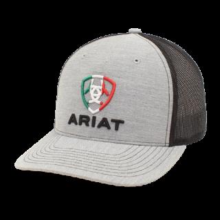 ARIAT – Gray Cap with Mexico Flag logo.  FREE SHIPPING