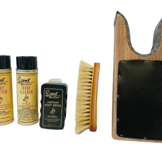ESTAMPIDA – Kit of Cleaning Products and Leather Care in Boots.. FREE SHIPPING!
